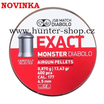 Diaboly - diabolky JSB Exact -  MONSTER  - 400 / 4,52mm