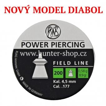 Diaboly - diabolky RWS - POWER PIERCING  / 4,5 mm