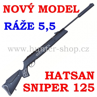 Vzduchovka Hatsan 125  SNIPER / 5,5  + PUŠKOHLED + TERČE zdarma