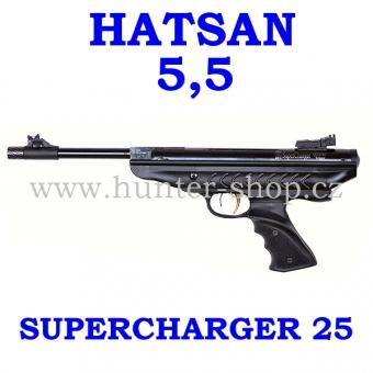 Vzduchová pistole Hatsan 25 SUPERCHARGER - 5,5 mm + terče + diabolky zdarma