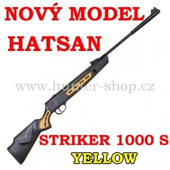 Vzduchovka Hatsan STRIKER 1000 S YELLOW / 4,5 + TERČE + 1x diabolky zdarma (250ks)