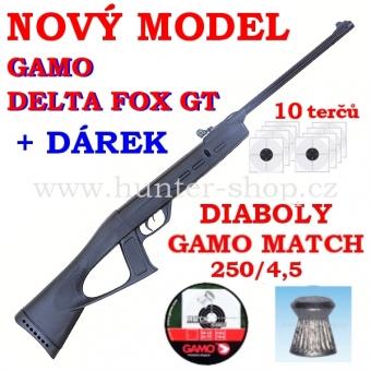Vzduchovka Gamo Delta Fox  GT / 4,5 + TERČE + 1x diabolky zdarma (250ks)