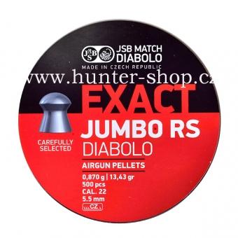 Diaboly - diabolky JSB Exact JUMBO RS  500 / 5,52 mm