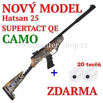 Vzduchová pistole Hatsan 25 SUPERTACT QE CAMO - 4,5 mm + terče zdarma