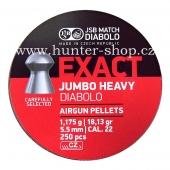 Diaboly - diabolky JSB Exact - jumbo  heavy - 250 / 5,52mm