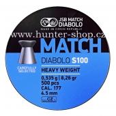 Diaboly - diabolky JSB Match S-100 - 500 / 4,5 mm