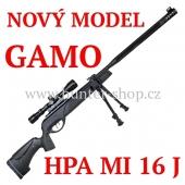 Vzduchovka Gamo HPA MI 16 J /4,5 + 100 terčů + diabolky Gamo Match 250ks zdarma+puškohled 3-9x40WR + bipod
