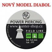 Diaboly - diabolky RWS - POWER PIERCING  / 4,5 mm