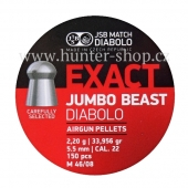 Diaboly - diabolky JSB Exact -  JUMBO BEAST - 150 / 5,52mm