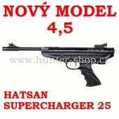 Vzduchová pistole Hatsan 25 SUPERCHARGER - 4,5 mm + terče + diabolky zdarma