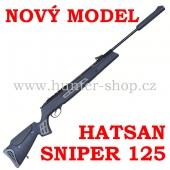 Vzduchovka Hatsan 125  SNIPER / 4,5 + TERČE + 1x diabolky zdarma (250ks)