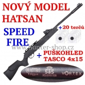Vzduchovka Hatsan SPEED FIRE VORTEX / 5,5  + PUŠKOHLED + TERČE zdarma