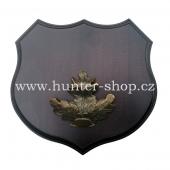 Podložka pod trofej - černá zvěř - litinové krytí zbraní - bronz - 361