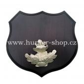 Podložka pod trofej - černá zvěř - litinové krytí zbraní - stříbro - 361