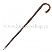 Vycházková hůl - dřevěná s bodcem