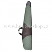 Pouzdro na dlouhou zbraň  130 cm - ZELENÉ + HNĚDÁ KOŽENKA
