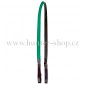 Puškový řemen hnědý 2 cm - podšitý zeleným filcem
