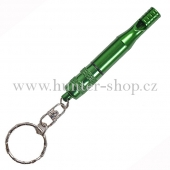 Píšťalka na psy kovová - zelená