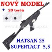Vzduchová pistole Hatsan 25 SUPERTACT - 5,5 mm + 20x terče + 1x diabolky zdarma