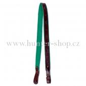 Puškový řemen hnědý 3 cm - podšitý zeleným filcem
