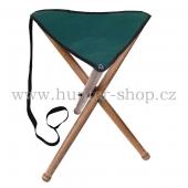 Sedací myslivecká trojnožka malá - textilní sedák