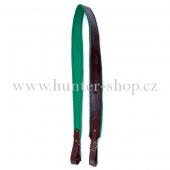 Puškový řemen 4cm zůžený - podšitý zeleným filcem